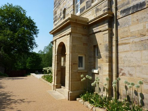 Sussex Sandstone pillars